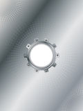 Cogwheel on silver background Royalty Free Stock Photography