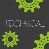 Cogwheel technical machine design banner and background eps10 Stock Photo
