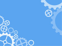 Cogwheel technical wallpaper light blue Stock Photos