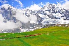 Cogwheel train from Jungfraujoch station. Stock Image