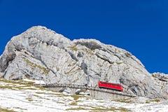 Cogwheel train at Pilatus, Royalty Free Stock Images