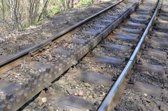 Cogwheel train tracks Royalty Free Stock Photo