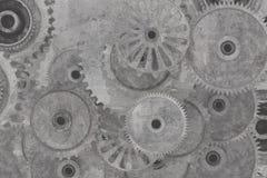 Cogwheel vintage background Royalty Free Stock Image