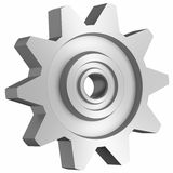 Cogwheel on white side view Royalty Free Stock Image