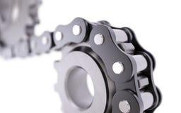 Cogwheel z łańcuchem Zdjęcia Stock
