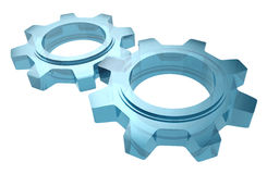 Cogwheels γυαλιού Στοκ φωτογραφία με δικαίωμα ελεύθερης χρήσης