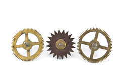 cogwheels εργαλεία παλαιά τρία Στοκ φωτογραφίες με δικαίωμα ελεύθερης χρήσης