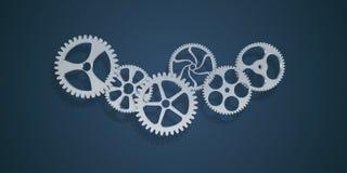 Cogwheels και εργαλείων μηχανισμός Στοκ εικόνες με δικαίωμα ελεύθερης χρήσης