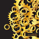 Cogwheels συστημάτων μηχανισμών Χρυσά εργαλεία φύλλων αλουμινίου ελεύθερη απεικόνιση δικαιώματος
