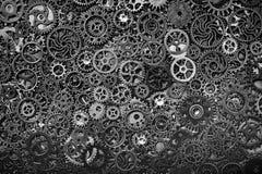 Cogwheels χάλυβα που βάζουν μαζί στενά Στοκ Εικόνα