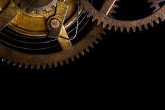 Cogwheels в старых часах Стоковые Фото