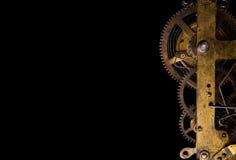 Cogwheels в старых часах Стоковая Фотография RF