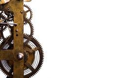 Cogwheels в старых часах Стоковое Изображение