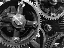 Cogwheels в черно-белом Стоковое фото RF