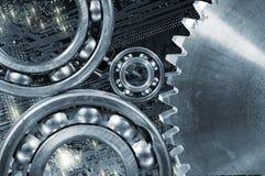 Cogwheels и тарировки компьютера шестерней Стоковое Изображение