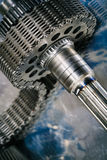 Cogwheels и шестерни, космические части Стоковые Фотографии RF