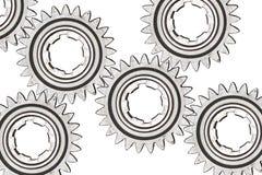 Cogwheels на белизне Стоковая Фотография RF