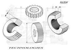 Cogwheels на белой предпосылке иллюстрация штока