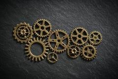 Cogwheels символизируя сыгранность Стоковое Изображение