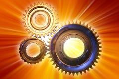 Cogwheels. Three cogwheels on bright background Royalty Free Stock Images