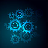 Cogwheels. Illustration of neon blue Cogwheels Stock Image