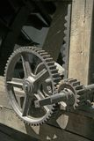 Cogwheels. Old cogwheels covered with web stock photography