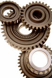 Cogwheels. /Gears of different sizes from an engine, on a white background Stock Photo