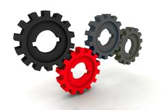 Cogwheels. Isolated cogwheels - business network - illustration stock illustration