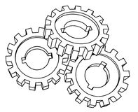 Cogwheels. Isolated illustration on white (with vector EPS format vector illustration