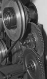 Cogwheels. Group of cogwheels rotating in one mechanism Royalty Free Stock Images