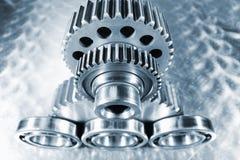 Cogwheels, ball-bearings and gears Stock Image