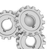 Cogwheels - business network (isolated illustratio Royalty Free Stock Photos