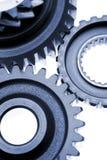 Cogwheels closeup. Closeup of cogwheels presented on white background Royalty Free Stock Image