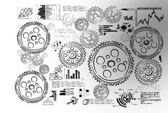 Cogwheels and gears Royalty Free Stock Image