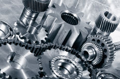 Cogwheels, gears and bearings engineering Royalty Free Stock Photos