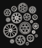 Cogwheels and gears. Vector illustration Royalty Free Stock Photography