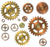Cogwheels gears on white background Stock Images