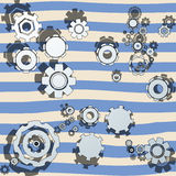 Cogwheels illustrated Stock Photography