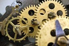 Cogwheels Inside Old Clockwork. Macro Royalty Free Stock Image