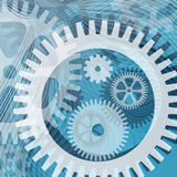 Cogwheels and lines Stock Photo