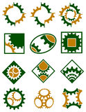 Cogwheels logo set Royalty Free Stock Photos