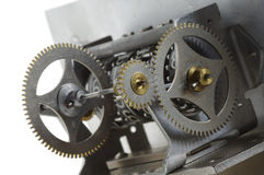 Cogwheels mechanism counter Royalty Free Stock Photos