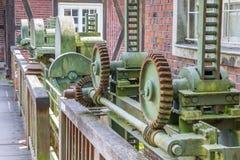 Cogwheels of the old grain mill in Nordhorn Stock Photo