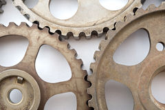 Cogwheels On White Royalty Free Stock Images