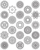 COGWHEELS Outline Icons Royalty Free Stock Photo