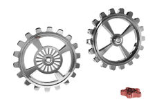 Cogwheels - Red Piece Royalty Free Stock Photo