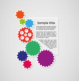 Cogwheels and sample text infographics Royalty Free Stock Photos