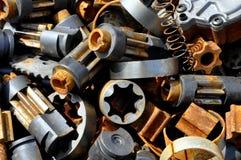Cogwheels scrap metal Royalty Free Stock Photos