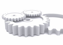 Cogwheels in white Stock Image