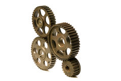 Cogwheels on white Stock Photography